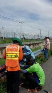 rail guard ทางหลวงพิเศษหมายเลข 7 ตอนหนองขาม - ชลบุรี