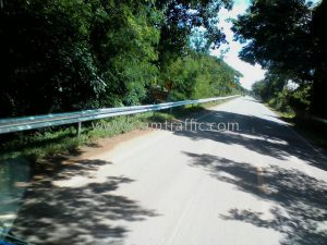 w beam guardrail ทางหลวงหมายเลข 3206 ตอนควบคุม 0101 ตอน ปากท่อ – ท่ายาง ปริมาณงาน 1,344 เมตร