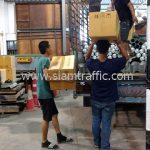 ไฟ solar-cell และการ์ดเรล ส่งไปบ้านรักไทย-บ้านปางคอง จังหวัดแม่ฮ่องสอน